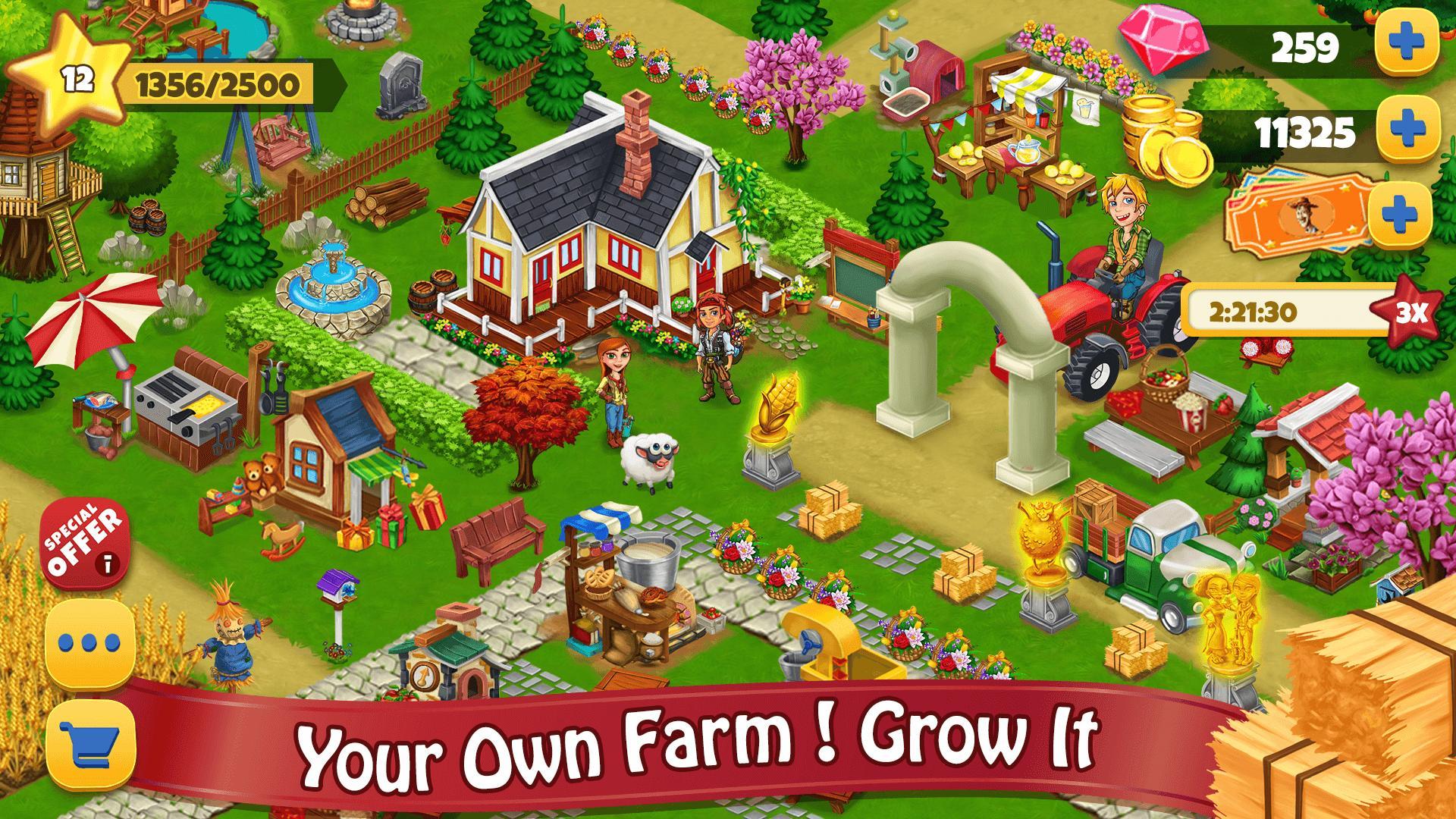 Farm Day Village Farming: Window Offline Games