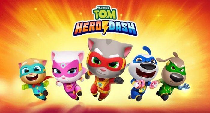 Download Talking Tom Hero Dash mod APK (Unlimited Money & Diamonds)